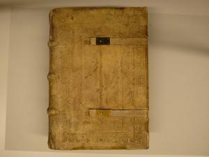Zeitgenössischer Einband von Plenarium, deutsch. Augsburg: Johann Bämler, 30.IX.[14]76. Staatsbibliothek zu Berlin – PK. Lizenz: CC-BY-NC-SA