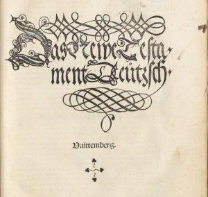"""Titelblatt des """"Dezembertestaments"""". Abteilung Historische Drucke. Lizenz: CC-BY-NC-SA"""