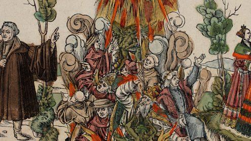 "Flugblatt zum Luther-Lied ""Erhalt uns Herr bei Deinem Wort"", Handschriftenabteilung. Lizenz: CC-BY-NC-SA"
