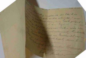 Buchpatenschaft für den Monat Oktober 2017, Brief von Gustav Landauer an Auguste Hauschner.