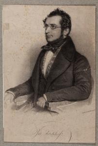 Joseph Fischhof (1804–1857), Lithografie von Andreas Staub, 1836