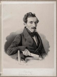 Ludwig Landsberg (1807–1858), Radierung von Carl Gotthelf Küchler, 1835