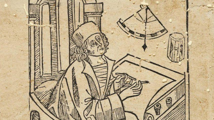 Prognostik auf das Jahr 1492. Fragment in der Bibliothek der University of Maryland, College Park