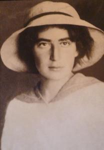 Porträt der hebräischen Dichterin Rachel Bluwstein