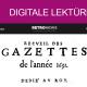"""Logo des Portals RetroNews (© RetroNews; https://www.retronews.fr/) und Ausschnitt aus der ersten französischen Zeitung """"La Gazette"""" (Source gallica.bnf.fr / BnF)"""