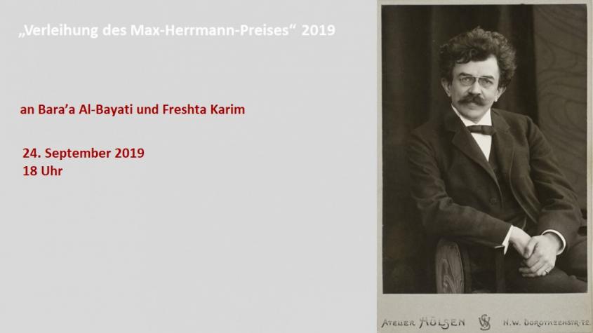 Max-Herrmann-Preisverleihung 2019
