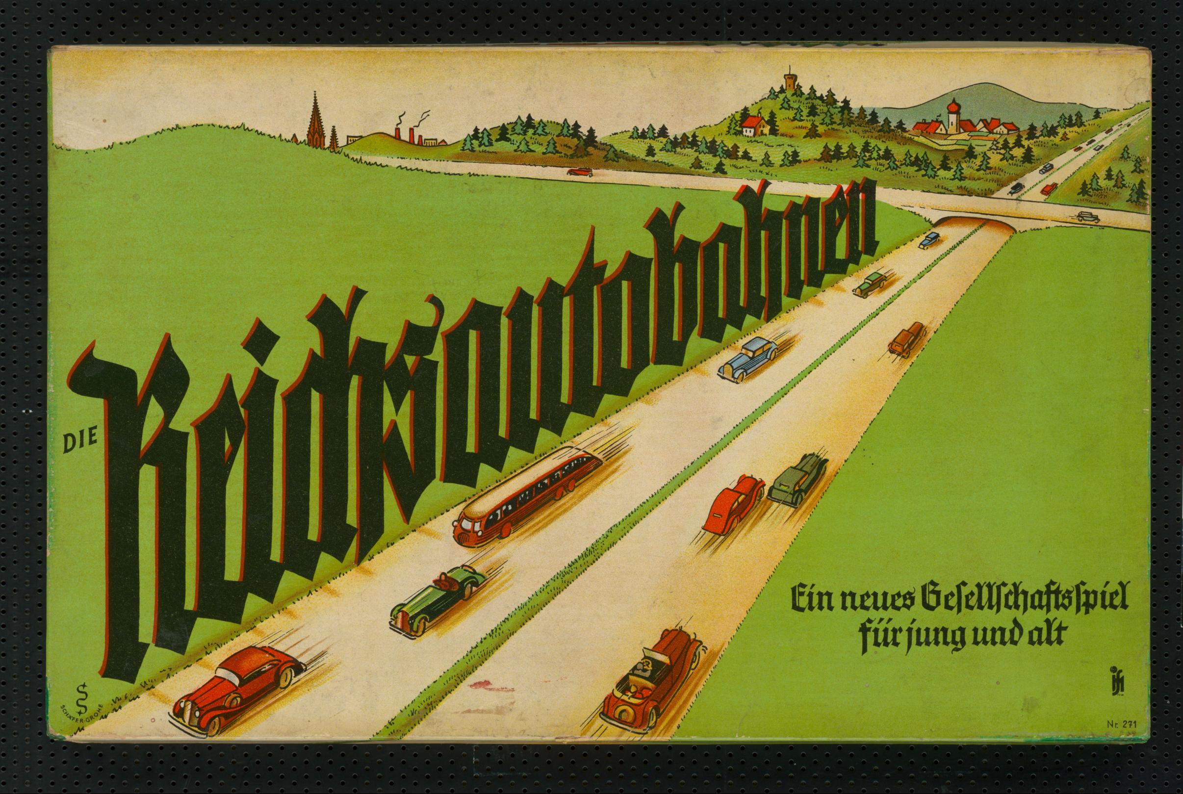 ,Die Reichsautobahnen', um 1935. – SBB-PK, Signatur Kart. W 29946/5. – Foto: Hagen Immel, SBB-PK / Lizenz: CC BY-NC-SA 3.0