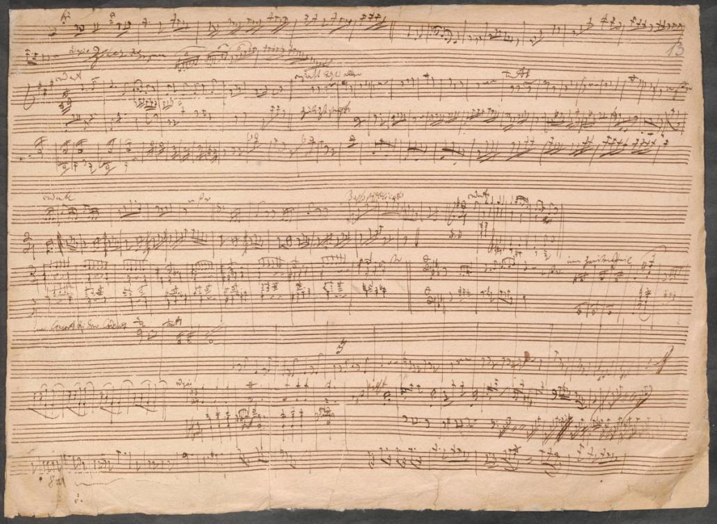 Ludwig van Beethoven Sonate für Klavier und Violoncello Nr. 1 op. 5 Skizze