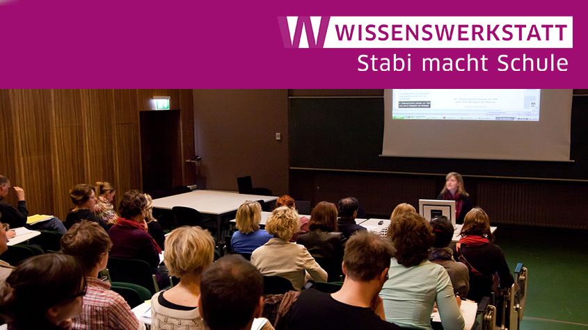 Vortragssituation im Hörsaal des Hauses Potsdamer Straße