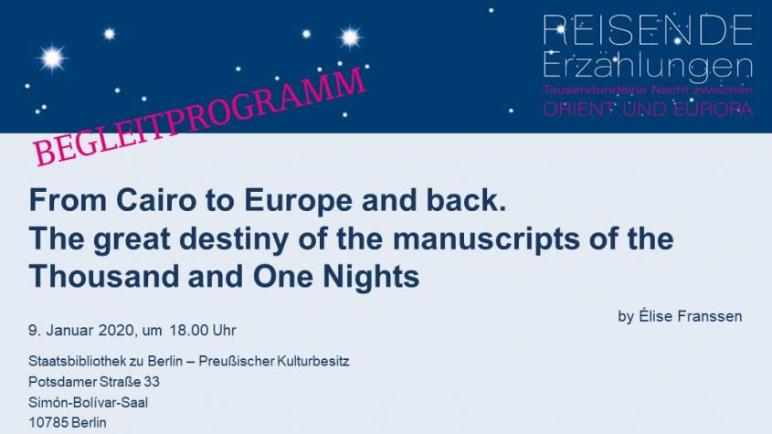 Begleitprogramm 1001 Nacht am 09.01.