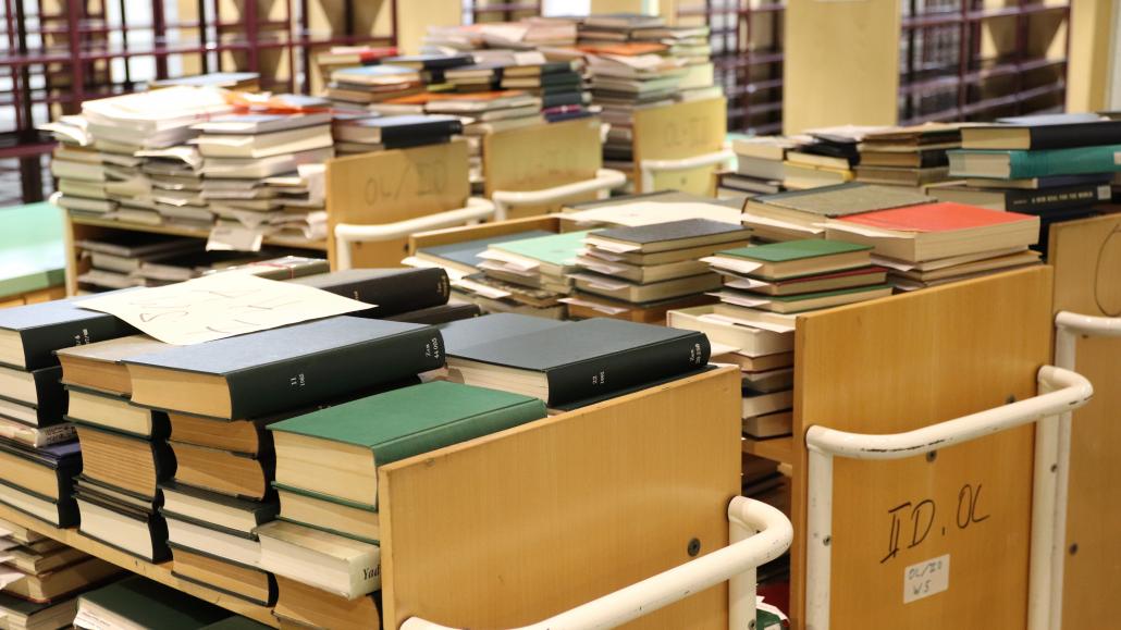 Frisch eingetroffene Bücher aus den Magazinen