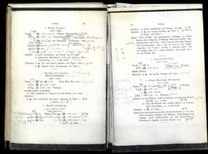 """Eine Doppelseite aus Haeblers """"Typenrepertorium"""" im Handexemplar der GW-Redaktion"""