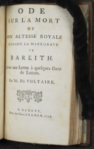 Voltaire Titel Ode