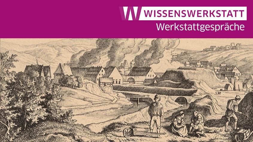 Ludwig Richter: Das Amalgamierwerk in Halsbrücke. Kupferstich-Kabinett, Staatliche Kunstsammlungen Dresden, Foto: Andreas Diesend. Inv.-Nr. A 130524