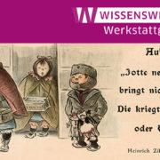 """""""Jotte nee, die Kinder bringt nich der Storch! Die kriegt ma bei Tietz oder Wertheim!"""" Heinrich Zille """"Aufklärung"""", Karikatur (um 1900), bearbeitet, © bpk"""