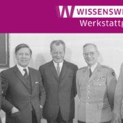 Luftwaffeninspekteur Steinhoff, Verteidigungsminister Schmidt, Bundeskanzler Brandt, Generalinspekteur de Maizière, Heeresinspekteur Schnez | Bundesarchiv: B 145 Bild-F030710-0026, Lothar Schaack (Bundesarchiv_B_145_Bild-F030710-0026,_Bonn,_Bundeskanzler_Brandt_mit_Bundeswehrführung.jpg ) Wikimedia Commons - CC-BY-SA 3.0 (https://creativecommons.org/licenses/by-sa/3.0/de/), zugeschnitt.