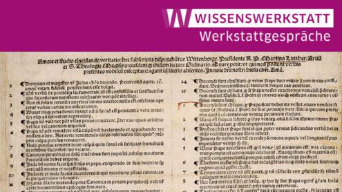 Ausschnitt aus dem Nürnberger Plakatdruck der 95 Thesen, 1517 | Digitale Bibliothek SBB-PK