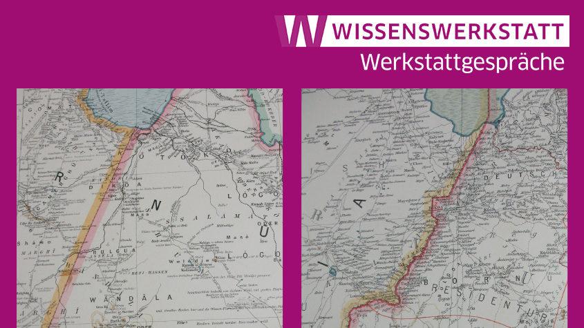 Ausschnitt des Kartenblattes aus dem Großen deutschen Kolonialatlas: Karte von Kamerun 1:1.000.000, Blatt 2 Tschad. (links von 1901, rechts von 1909). SBB-PK