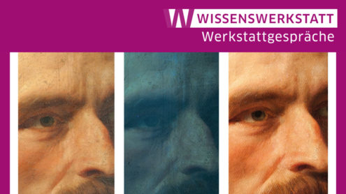 Porträt Carl Friedrich Lessings von Carl Ferdinand Sohn | Detail des Vorzustandes – unter UV-Anregung – des Istzustandes