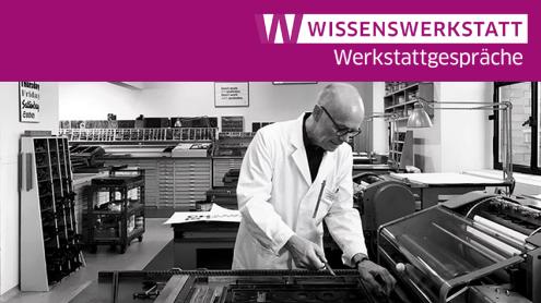 Erik Spiekermann in seiner Druckwerkstatt p98a | Foto © Norman Posselt (www.normanposselt.com)
