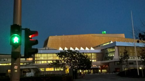 Haus Potsdamer Straße am Abend, Staatsbibliothek zu Berlin