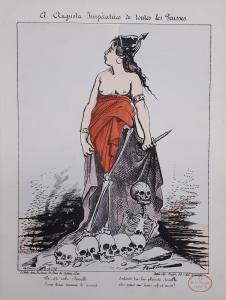 Karikatur aus dem Deutsch-Französischen Krieg 1870 von Faustin