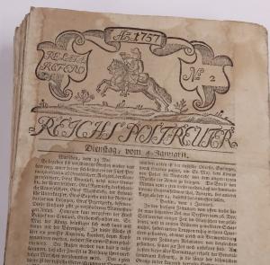 Titelbaltt der Zeitung Reichs-Post-Reuter, Bibliothekssignatur: 8° Ztg 11174, SBB-PK