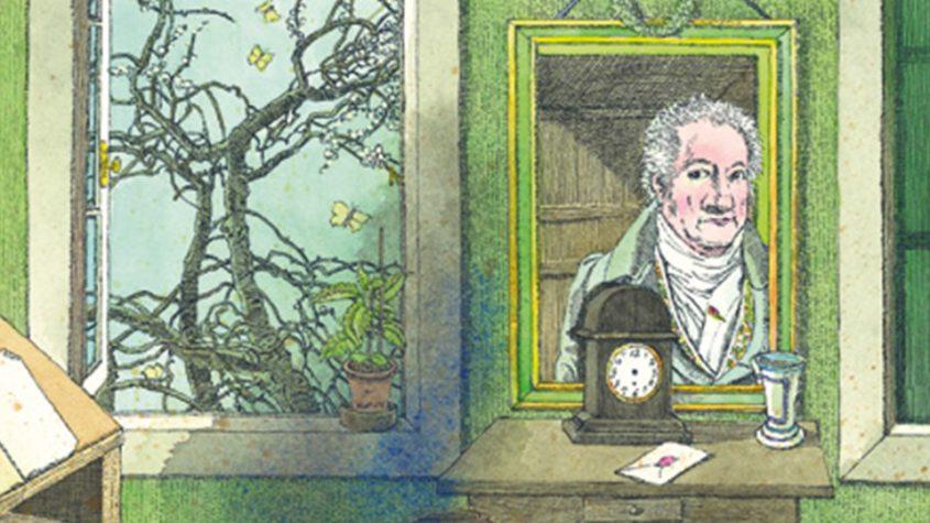 """""""Osterspaziergang von Johann Wolfgang von Goethe. Mit Bildern von Klaus Ensikat."""" Copyright: Kindermann-Verlag Berlin"""