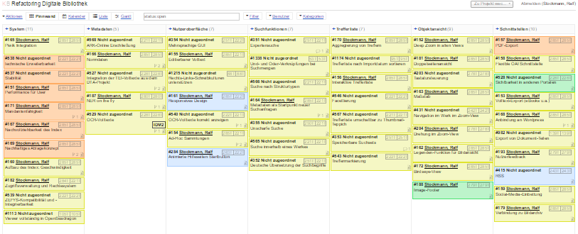 Unser Planungsboard – eine open-source-Alternative zu Trello: http://kanboard.net/