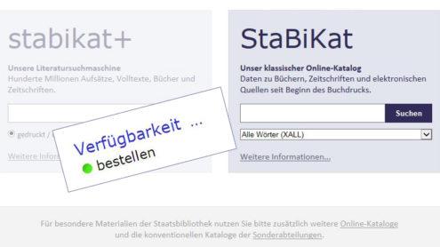 StaBiKat mit Verfügbarkeitsanzeige